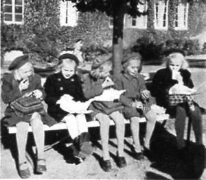 Matrast i Kvarnbyskolan (Centralskolan).