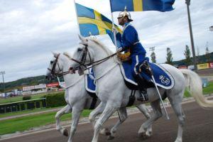 Dragonmusikkåren framträdde även på Åbyfältet. Foto: Johan Edström.