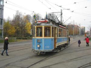 Från den gamla spårvagnen hade man utmärkt utsikt över staden. Foto: Lars Gahrn