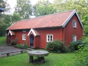 Hallandsgården i Slottsskogen kommer från Knipered i Lindome. Foto: Leif Jenemalm.