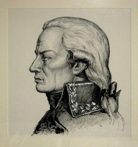 Ett porträtt av de Miranda finns på Gunnebo, där man gärna berättar om den framstående gästens besök på Gunnebo 1787. Foto: Kristian Reuter Oliveberg.