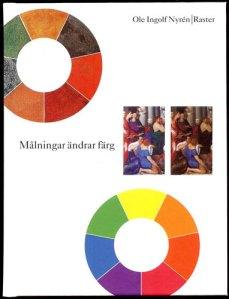 På bokens titelsida kan man se två spektrum, det ena med förändrade och det andra med oförändrade färger. Man ser dessutom ett utsnitt av en färgförändrad målning och samma utsnitt med datorrekonstruerade färger (till vänster).