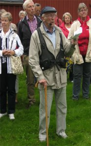 Åke Magnusson – en spänstig 93-åring som ciceron.