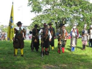 Fotfänikan består av både musketerare och pikenerare.