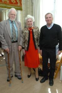 Göran Michanek, Kerstin Nilsson och Harald Forodden hade mycket att berätta om Francisco de Miranda. Foto: Rodolfo Castex.