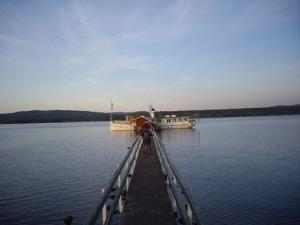 Ångfartyget Engelbrekt vid Hjulbäcks ångbåtsbrygga.