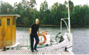 Stig Törnqvist blev maskinist på Engelbrekt, som blev ett andra hem för honom.