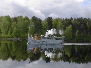 Engelbrekt under gång på Dalarnas farvatten.