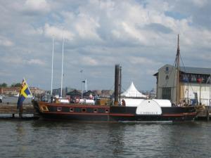 Hjulångaren Eric Nordevall II förevisades vid   Eriksberg under Europas maritima dag. Foto: Lars Gahrn.