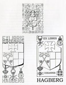 En exlibrissamlare som Hagberg har vanligen flera olika exlibris.