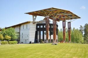 Måltidens Hus, en futuristisk skapelse i Grythyttan, innefattar bland annat Kokboksmuseet.  Foto: Hans Lundholm.