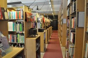 I Måltidens Hus finns ett omfattande bibliotek med måltidslitteratur av yngre årgångar. Foto: Hans Lundholm.