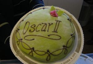 Prinsesstårtan förvandlades dagen till ära till kungatårta.