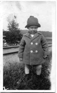 Sven Evert Nilsson som barn.