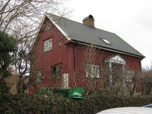 Nils Hasselskogs villa vid Häradsgatan i Mölndal. Foto: Lars Gahrn.