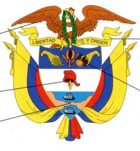 Colombias vapen.