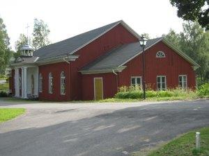 Brunnskyrkan är tillika brunnssalong. (Foto: Lars Gahrn.)