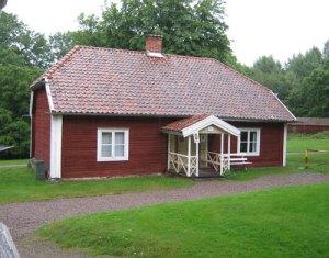 Huset, där Sophie Hagman bodde. Foto: Lars Gahrn.