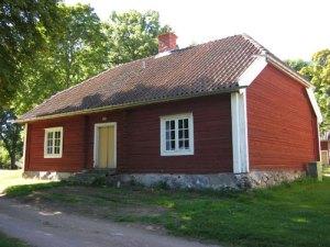 Sophie Hagmans hus, fotograferat bakifrån. Foto: Lars Gahrn.