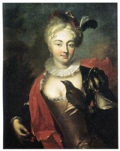 Den sköna Aurora Königsmark med en fågel.