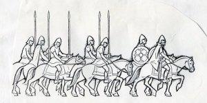 Konungen rider runt i sitt rike tillsammans med sitt följe.