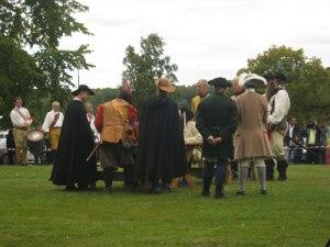 Fredsförhandlingarna i Knäred gestaltades som ett samtal kring ett stort bord.