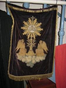 Klädet från Fässbergs kyrka. Foto: Lars Gahrn.