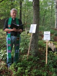 Kyrkoherde Risenfors predikar.