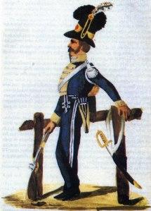 1802 års uniform torde ha varit den uniform, som vår tvångsvärvade livgardist fick bära.