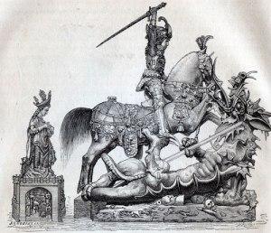 Sankt Göran och draken var en av de sevärdheter, som livgardisten förväntades beskåda.