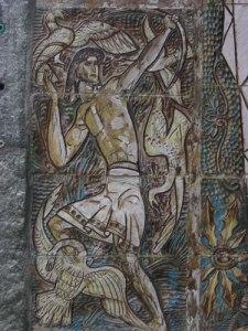 Herkules skjuter ner de stymfaliska fåglarna.