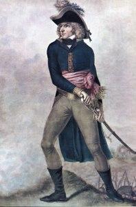 Karl XIV Johan framstår på detta porträtt som en mycket krigisk herre. I själva verket var han en försiktig general, som ville undvika all onödig blodspillan. Under det norska fälttåget var han ytterst angelägen om att undvika alla onödiga krigshandlingar.