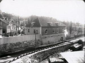 Papyrus' gymnastiksal. (Foto: Knut Kjellman, Mölndals Hembygdsförenings arkiv.)