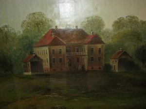 Eidsvoll, som dock enligt uppgift aldrig har varit så gult som målningen visar.