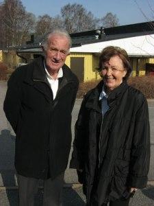 Kjell Malmqvist och hans hustru Britta, under många år kyrkvärd i Stensjökyrkan.