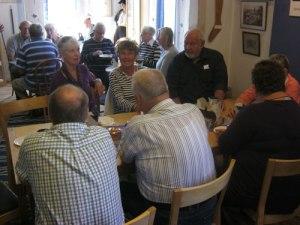 Oscar II:s dag firas med prinsesstårta och kaffe i hembygdsföreningens salar i Porthuset.