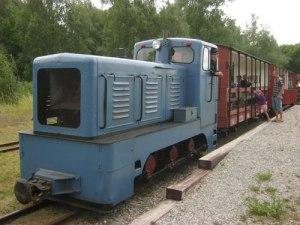 Tåget är klart för avgång från hamnen mot Åtorp.