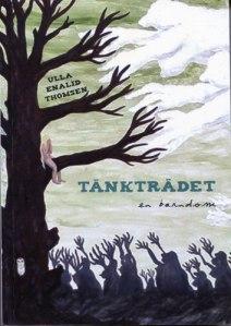 Omslaget till boken visar en naken flicka, som sitter i ett träd och håller händerna för ansiktet. Hon känner sig utsatt och ansatt, vilket visas av alla stora händer, som sträcks mot henne och griper efter henne.