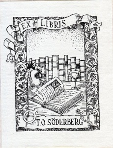 Torsten Söderbergs exlibris.