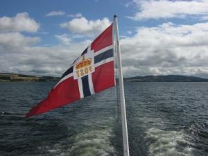 Postflaggan. Foto: Lars Gahrn.