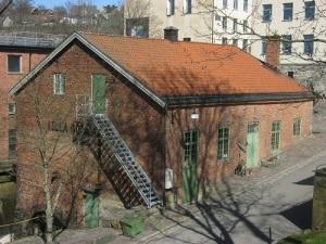Lilla Götafors, Götaforsliden 15, ett gammalt pappersbruk, som har blivit konferens- och festlokal. Foto: Lars Gahrn.