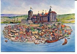 Under detta krig besparades Gamla Älvsborg en belägring. Däremot belägrade svenskarna Bohus fästning under krigets slutskede. Sentida bild av fästningen och staden Kungälv på Fästningsholmen.