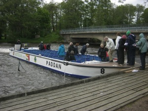 Paddan-båten vid Aludden. Foto: Lars Gahrn.