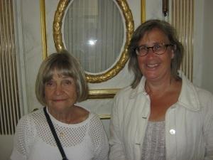 Ingela Eek och Anna Jolfors, två kunniga och skickliga ciceroner.