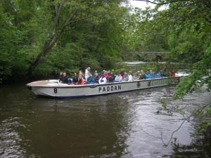 Paddan-båten vänder vid Vamme bro.