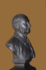 Baron Oscar Dickson var den siste svensken som baroniserades (i Sverige). Hans byst finns i Dicksonska palatset på Heden i Göteborg. Foto: Anna Jolfors.