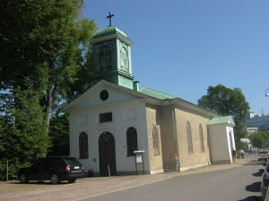 Mariakyrkan från sydväst. Foto: Lars Gahrn.