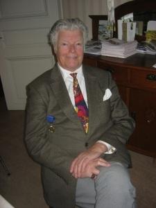 En glad medaljör – Peter A. Lansenfelt, som räddade Ekereds herrgård. Foto: Lars Gahrn.