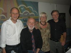 Kvartetten Plus. Från vänster ses: Rustan Johansson, Jan Svensson, Mette Larsen och Jan Almqvist. Foto: Lars Gahrn.