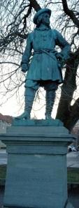 Tordenskiolds bildstod i födelsestaden Trondheim. (Ett tack till Harald Forodden för denna bild.)